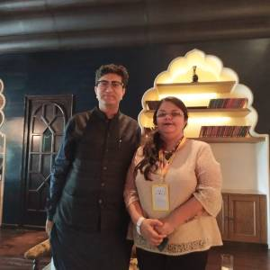 Shailaza Singh, author of best seller Faith-The Mystery of the Missing Girl with national award winning lyricist Prasoon Joshi