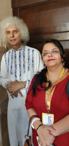 Shailaza Singh, author of best seller Faith-The Mystery of the Missing Girl with with Santoor Maestro Pandit Shiv Kumar Sharma