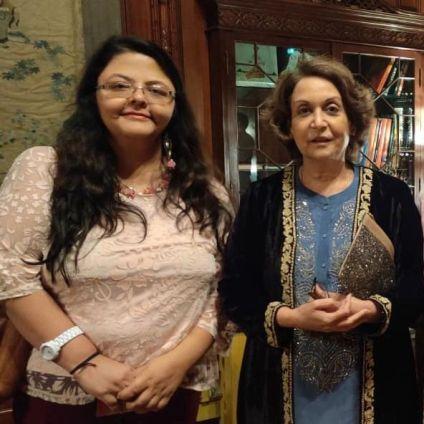 Shailaza Singh, single mother and the author of Faith-The Mystery of the Missing Girl with Princess Rajyashree Kumari of Bikaner