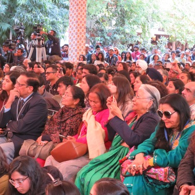 the crowd at the literature festival